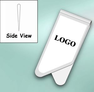 printed paper clips in stainless steel metal