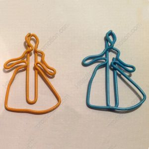 shaped paper clips in cinderella outline