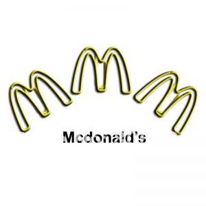 MacDonald's Logo Paper Clips | Promotional Gifts (1 dozen)