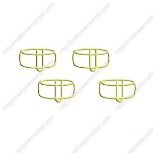 music shaped paper clips in drum outline
