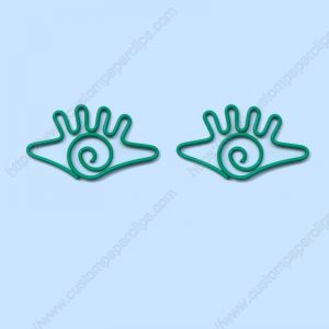 wire shaped paper clips in eye outline, promotional gifts