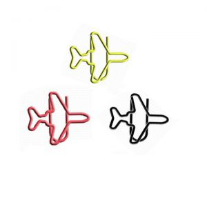 airplane aeroplane paper clips, jet shaped paper clips