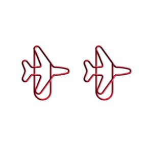 shaped paper clips in airplane outline, plane shaped paper clips