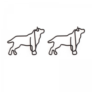 animal shaped paper clips in dog outline, promotional gifts