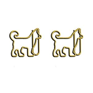 Animal shaped paper clips in dog outline, decorative accessory