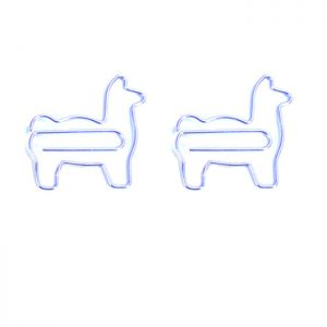 animal shaped paper clips in the outilne of llama