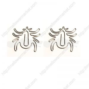wire shaped paper clips in beetle outline, insect shaped paper clips