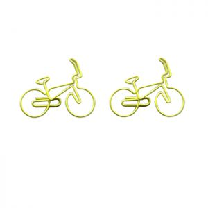 wire shaped paper clips in bicycle outline, bike decorative paper clips