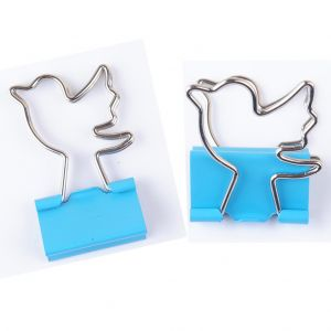 binder clip in bird-outline handle, office binder clips, binding clips