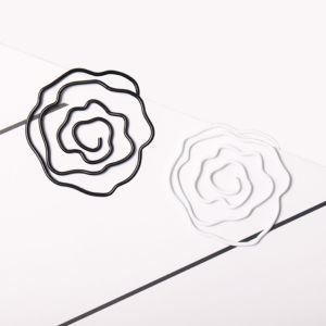 flower shaped paper clips, blossom bloom paper clips