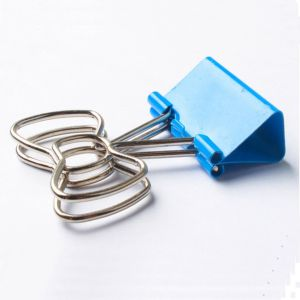 binders clips with bowknot handles, metal office binder clips
