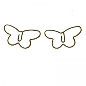 wire shaped paper clips in butterfly outline, insect shaped paper clips
