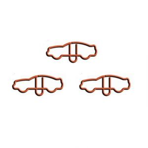 wire shaped paper clips in car outline, business gifts