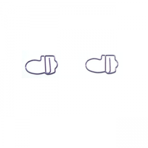 wire shaped paper clips in cartoon shoes outline