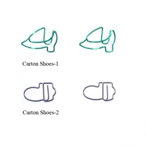 cartoon shoes shaped paper clips