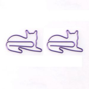 animal shaped paper clips in the outline of cat