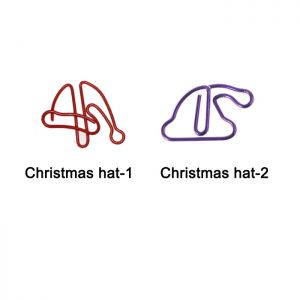 Christmas hat shaped paper clips, decorative paper clips