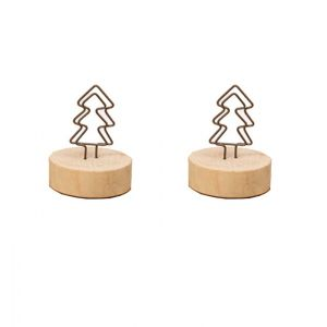 antique memo clips, memo holders with Christmas tree shape on the top