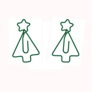 fun shaped paper clips in Christmas tree outline