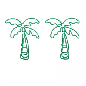 tree shaped paper clips in coconut palm