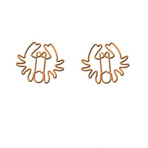 shaped paper clips in crab outline, business gifts