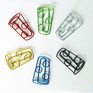 creativity cup shaped paper clips, promotional paper clips