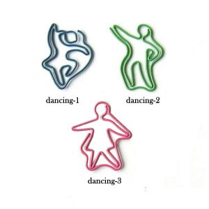 shaped paper clips in dancing outline, dance paper clips