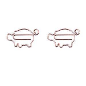 poultry shaped paper clips in pig outilne, animal shaped paper clips