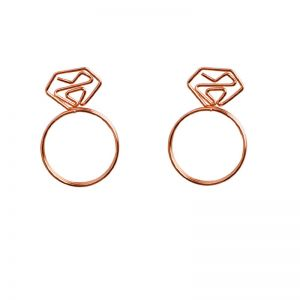 diamond gem ring shaped paper clips for decoration