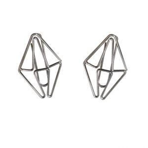 gem diamond shaped paper clips, silver paper clips