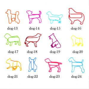 dog shape paper clips, animal shaped paper clips