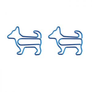 fun shaped paper clips in the dog outline, animal paper clips