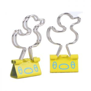 binders clips with duck shaped handles, metal office binder clips