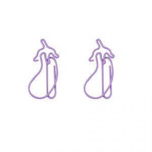eggplant shaped paper clips