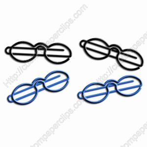 eyeglasses or spectacles shaped paper clips
