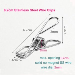 fish clips, metal binder clips, stainless steel wire clips