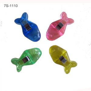 fish plastic paper clips in assorted colors