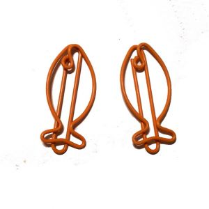 fish shaped paper clips in orange color