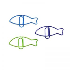 fish shaped paper clips in sardine outline