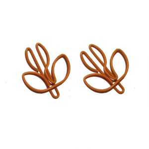 plant shaped paper clips in flower bud outline, decor accessories