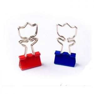 binders clips with flower shaped handles, rose office binder clips