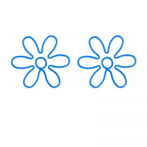 wire shaped paper clips in flower outline, business gifts