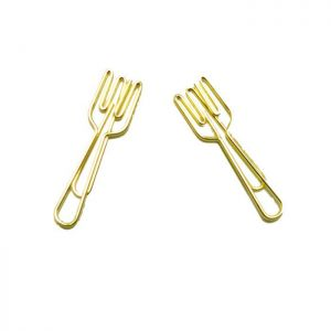 wire shaped paper clips in fork outline, business gifts