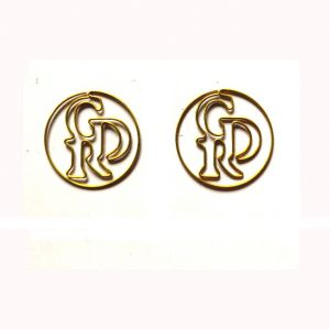 GDR logo promotional paper clips, letters shaped paper clips