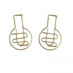 glasses shaped paper clips, decorative paper clips