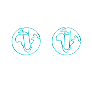wire shaped paper clips in globe or earth outline