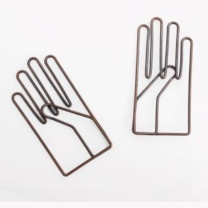 shaped paper clips in glove outline for business gifts