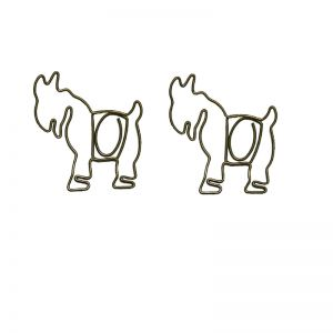goat shaped paper clips, animal shaped paper clips