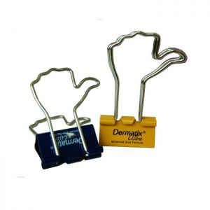 custom printed binder clips with hand shaped handles, thumb-up office binder clips