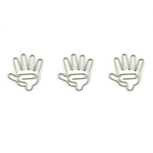 shaped paper clips in hand outline, hand paper clips